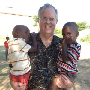 Toby Nelson with orphans Zimbabwe